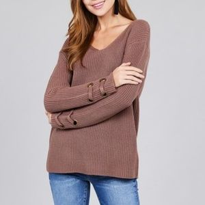 f1f4164253e5 WonderlustApparel Sold · CAREN Chocolate Knit Sweater